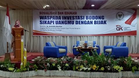 Legislator Ingatkan Masyarakat Bengkulu Diminta Waspada Investasi